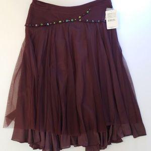 Free People Plum Skirt NWT Size 6